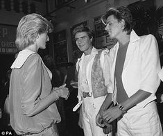 Diana, Princess of Wales meets Duran Duran at the Prince's Trust Concert in London