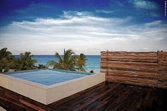 small swimming pool on the roof design in Dream Be Tulum Resort