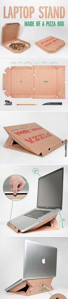 ¿No sabes que hacer con la cajas de pizza?