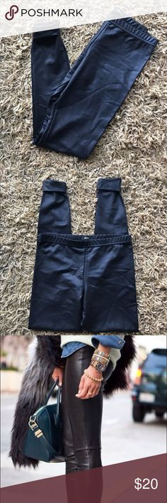 BDG Nylon/Spandex Leggings BDG made in USA 80% Nylon 20% Spandex black leggings cuffs on the bottoms can dress up or down no signs of wear Urban Outfitters Pants Leggings