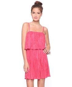 Forever 21 Women's Layered Pleated Dress $23