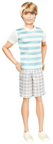 Amazon.com: Barbie Ken Fashionistas Ken Striped Shirt Doll: Toys & Games