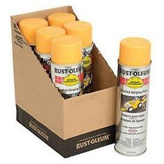 Rust-Oleum 2348838 2300 System Inverted Striping Paint Aerosol, Yellow – Lot of 6 Paint Rollers, Wall Fans, Minwax, Milk Paint, Paint Shop, New Market, Pantone Color, Paint Brushes, Rust