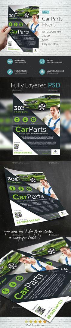Car Parts Shop Flyer Template