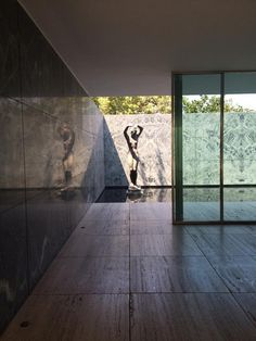 Beautiful sight line in the Barcelona Pavilion