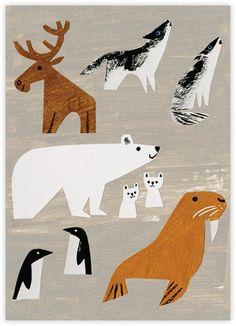 Winter Animals (Christian Robinson) - Paperless Post