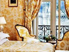 French doors, small loft rooms to balcony, Chateau D'Esclimont, Chartres