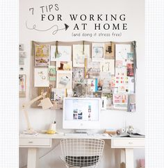 7 Tips For Working at Home... And Doing it Stress Free! | Wonder Forest: Style, Design, Life. stress free, own business, blog design board, office looks, the office, inspiration boards, blog inspiration, at home business organization, home offices