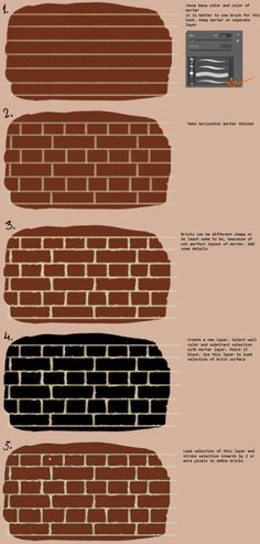 "nfwar: ""Made a quick tutorial about drawing brick walls. """