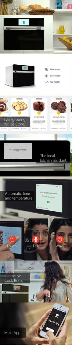 The MAID oven learns your tastes and habits to improve your kitchen. There's a host of smart-home features, but it is still a prototype. MAID should be available for you home for Thanksgiving 2015.