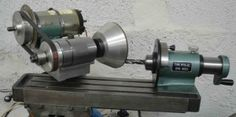 Tool and Cutter Grinder - Homemade tool and cutter grinder constructed from a surplus mill table, spindle, spin indexer, and electric motor.