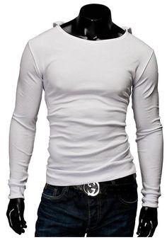 2015 New Arrival Mens Solid Tops Tees T-Shirt Men Cotton Men's T-shirt With Hat Long Sleeve Men T- Shirt