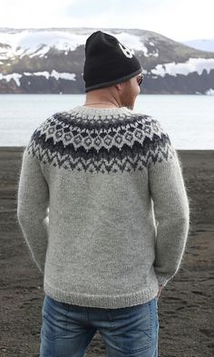 Ravelry: Project Gallery for Riddari pattern by Védís Jónsdóttir Icelandic Sweaters, Wool Sweaters, Mens Baseball Tee, Sweaters For Women, Men Sweater, Fair Isle Knitting, Sweater Weather, Victorian Fashion, Sport Outfits