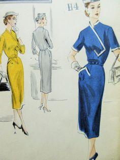 Vogue 4207 Dress 50s B34 Slim Skirt Asymmetrical Dress, Pocket Interest by sewbettyanddot sld Jun 24, 2015 list 6/9/15