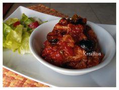 kreattiva: Baccalà con pomodoro olive nere e capperi