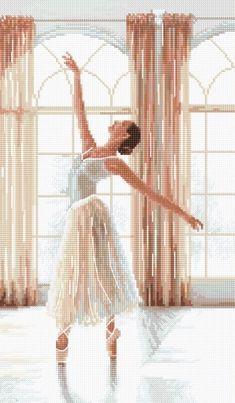 dance Sensual beauty view Counted Cross stitch kit women Ballet dancer