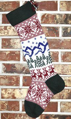 Scandinavian Knit Christmas Stocking