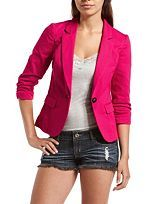 Double Breasted Ponte Blazer: Charlotte Russe