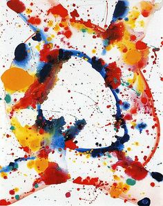 Sam Francis, Untitled (Holy Hole) (1984)