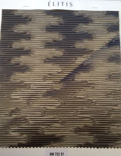 """ELITIS Wallcovering Geisha Ginza RM 752 91  Une exquise soumission  Plus product : Easy hanging Non-inflammable: ASTM E84 class A Composition : 56% PL 44% PP Care : Spongeable Width +/- 3% : useful width 140cm (55.1"""") Pattern match : Random match Sales units : MT Weight : 530 g/ml 11,2 oz/sq.yd Pattern Matching, Wallpaper Samples, Geisha, Composition, Walls, The Unit, Space, Random, Easy"""