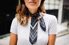 4 WAYS TO TIE A NECK SCARF | a pair & a spare | Bloglovin'