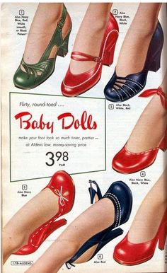 1950's shoe ad . . .  at that price I'll take them all!  Fabulous.