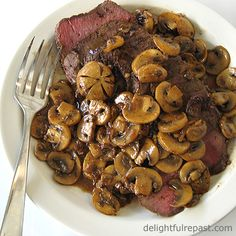 London Broil with Mushrooms........... USE FILLE TOF  CHICKEN INSTEAD OF BEEF