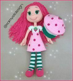 Samyelinin Örgüleri: Strawberrygirl Crochet Toys Patterns, Stuffed Toys Patterns, Knitting Patterns, Amigurumi Doll, Crochet Baby, Free Pattern, Dolls, Christmas Ornaments, Holiday Decor