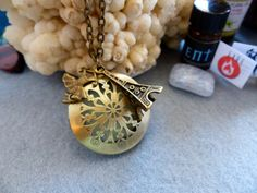 French Mood/ Essential Oil Diffuser Necklace-Aromatherapy Locket by AstroScent on Etsy
