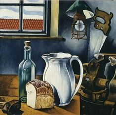 Charley Toorop - Still Life with White Pitcher, 1954, Kröller-Müller Museum.