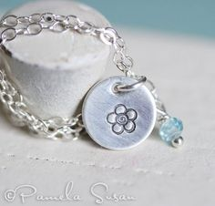 "Cute ""Forget Me Not"" necklace... Love it!"