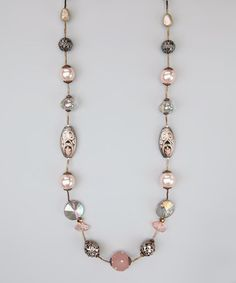 Take a look at this Pink Champagne Bead Layering Necklace by Treska on #zulily today!