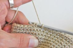 There are two different methods for single crochet decrease, but for amigurumi the invisible decrease is my absolute favourite. Crochet Tutorials, Crochet Patterns, Single Crochet Decrease, Monogram, Tips, Amigurumi, Crochet Shopkins Patterns, Crochet Pattern, Monograms