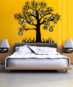 Vinyl Wall Decal Sticker Tree Picture Frame #OS_DC178 | Stickerbrand wall art decals, wall graphics and wall murals.