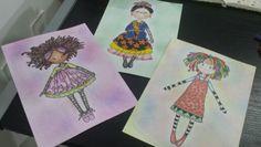 Monalisa, Frida e Emília.