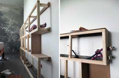 Notre tête de lit multifonctions pour 50 euros* – Misc Webzine Entryway, Loft, Shelves, Bedroom, Wall, House, Furniture, Dressing, Home Decor