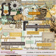 Journal It! Digital Scrapbooking Kit | ScrapVine