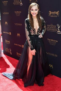Reign Edwards wore a black #PaoloSebastian Fall 2016 Couture embroidered illusion gown to the #DaytimeEmmys. -The Fashion Court (@TheFashionCourt)   Twitter