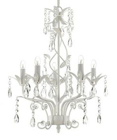Give the room an injection of glitz and glamour with this crystal encrusted chandelier. Decadently designed with a winding wrought iron silhouette and faceted jewels, it beautifully brightens any room.