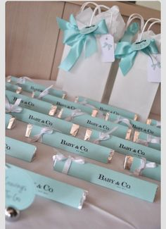 Tiffany theme giveaways