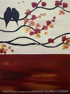 Abstract Painting Landscape Painting Tree Painting Birds