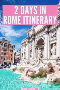 Here is the perfect 2 days in Rome itinerary, including the best way to see the Colosseum, the Palatine Hill and the Roman Forum, the Vatican, and more! | 2 day guided tour of rome | rome itinerary 2 days | places to visit in rome in 2 days | things to do in rome in 2 days | rome two day itinerary | two days in rome| how many days in rome | what to see in rome in 2 days | what to see when in rome | must see rome | what to do in rome in 2 days | rome 2 day itinerary