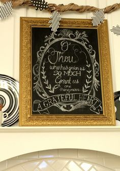 Chalk board printable, Thanksgiving,