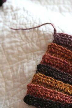 Crochet Ribbed Scarf.. i should make one of these.. maybe in blanket form..