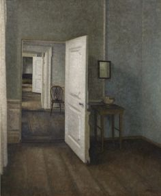 "Vilhelm Hammershøi (Danish, 1864-1916), Interior. ""The Four Rooms"", 1914. Oil on canvas, 85 x 70.5 cm."