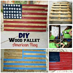 DIY: How To Make an American Flag out of a Wood Pallet (Step by Step Tutorial w/ Pictures) | SassyDealz.com