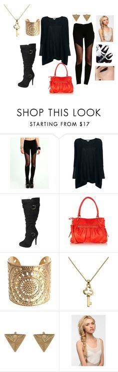 """Date Night"" by natoniii ❤ liked on Polyvore featuring mode, Helmut Lang, Oasis, Club Manhattan, Chanel, Eva NYC, oversized sweaters, black nail polish, knee high boots en leggings"