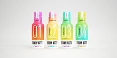 These new enriched bottled waters will add a splash of color into your day.  TopShape vitamin water is a bright and bold way to up your water intake,  designed by Brazil-based agency Sweety & Co.