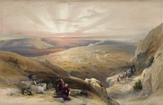 David Roberts RA (1796-1864) Site of Cana of Galilee, April 21st 1839