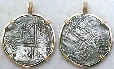 Atocha Coin Jewelry, Atocha Coins Recovered by Mel Fisher